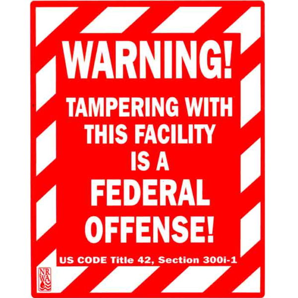 Warning Federal Offense Sign
